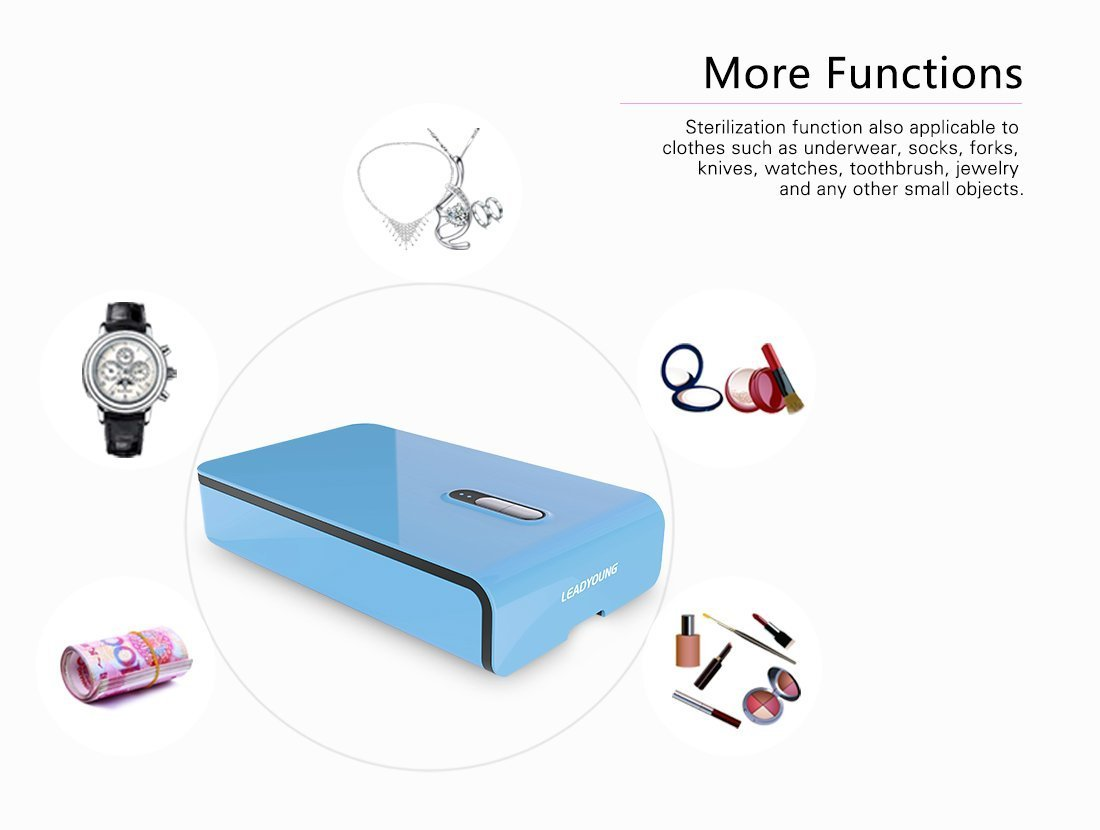 MIFAVOR UV Sterilizer Box Phone Soap Smartphone Sanitizer and Charger Cleaner for Apple Watch iPhone Samsung Galaxy Earphone Jewelry Eyeglass