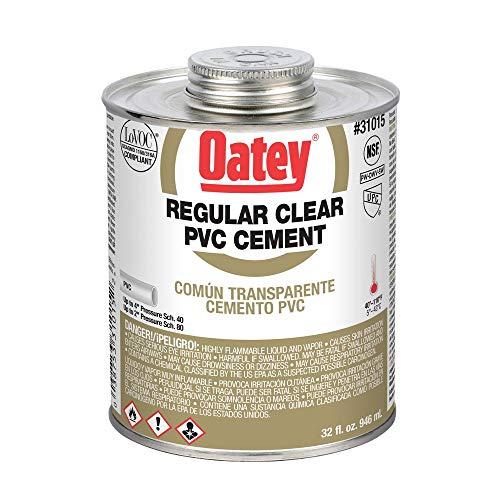 - Oatey 31015 Hydraulic Cements, 32 oz, Clear