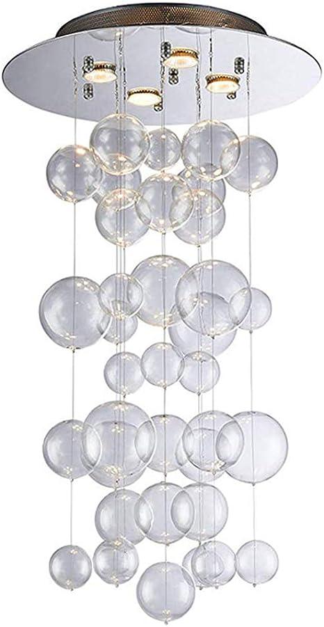 Modern Clear Glass Bubble Ball Sphere Chandelier Pendant Ceiling Light Lamp