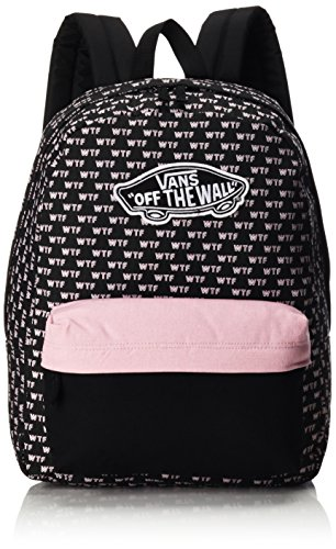 Vans Backpack – Realm Backpack WTF Black White Pink  Amazon.ca  Luggage    Bags ed8940141be