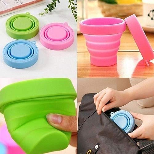 Silicone Camping - Portable Home Travel Camping Silicone Telescopic Drinking Collapsible Folding - Bowl Small Silicon Spatula Mold Camping Folding Water Bottles Glass Drink Bottl Shoe Silicon Tel
