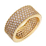AThings Gold plated with cubic zircon copper Rings Lord of the ring Bangle Ring South-west style birthday gift 10.0