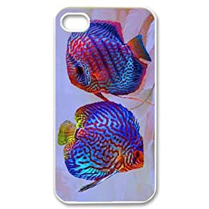 Colorful fish ZLB607909 Customized Phone Case for Iphone 4,4S, Iphone 4,4S Case