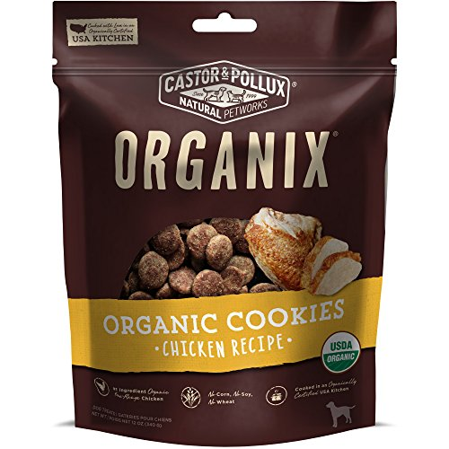 Castor & Pollux Organix Organic Dog Cookie Chicken Recipe, 12 Oz Bag