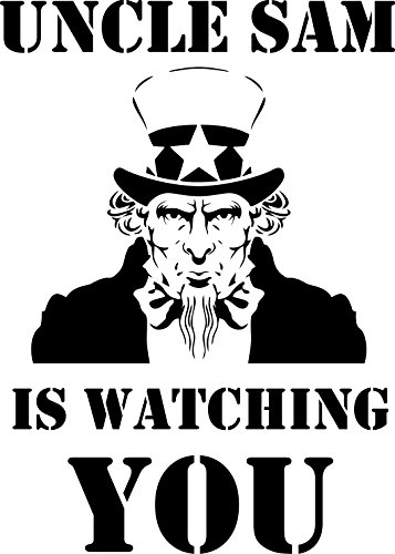 'Uncle Sam Is Watching You' Stencil - 12