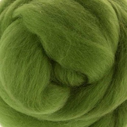 Extra Fine Merino Roving One Ounce Assorted Green Colors for Felting (Leaf)