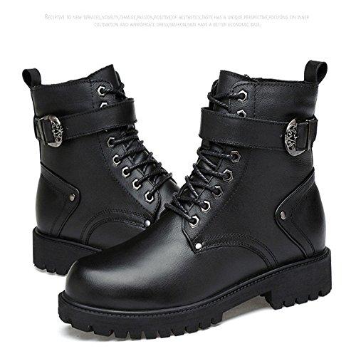 De Botas Gamuza Ktyxgkl Coreana Para Altas Negro Moda Tamaño Cuero 41 Los Hombre Hombres color Negro Masculina Martin wtqSq