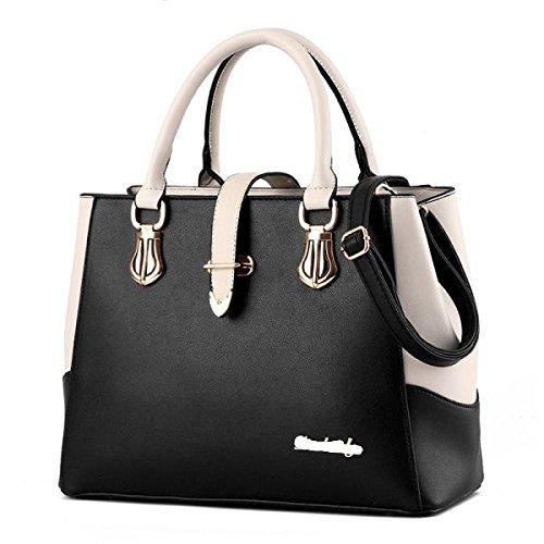 Sac à main sacs femmes Pu Casual grande capacité imperméable simple sac à bandoulière noir
