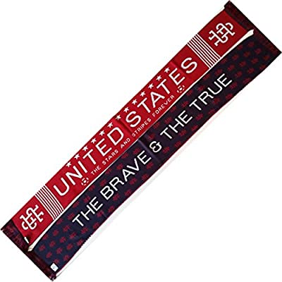 "USA ""The Brave & The True"" Knit Scarf - Soccer and Other Sports"