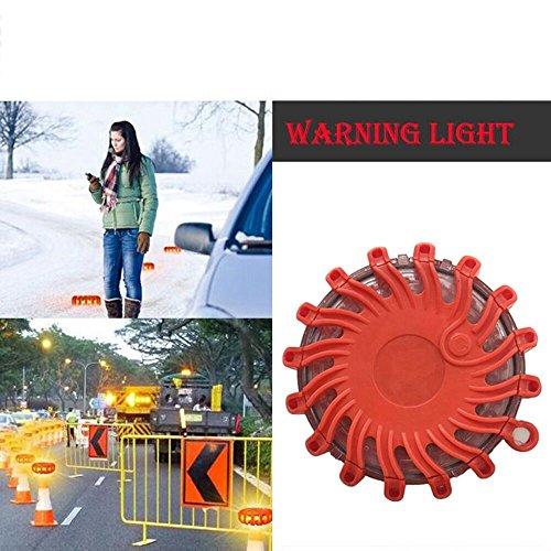 Faber3 LED Road Flares Flashing Warning Light Roadside Flare Emergency Disc Beacon, Magnetic Base for Car or Marine (Flare 20 Chandelier)
