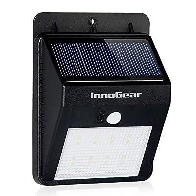 InnoGear Solar Motion Sensor Light Outdoor Wall Sconces Security Night Lights