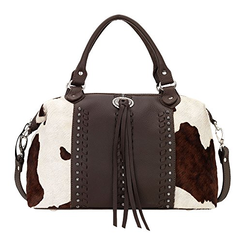 4150227 American West Women's Cow Town Purse - Chocolate by American West