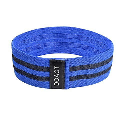 DOACT Stretch Resistance Bands for Legs and Butt, Booty Bandage Assist Exercise Loop for Gym, Fitness, Weightlifting, Yoga, Workout for Women and Men
