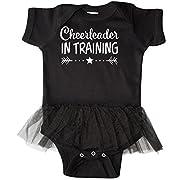 inktastic - Cheerleader in Training Infant Tutu Bodysuit Newborn Black