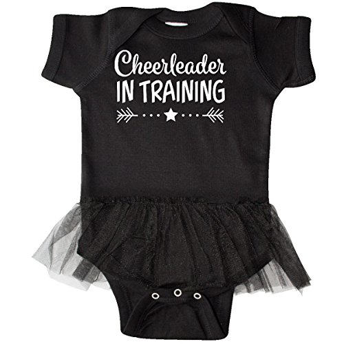 (inktastic - Cheerleader in Training Infant Tutu Bodysuit 6 Months Black 2c4c9)