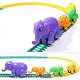 Best COFFLED Kids Electric Cars - Electric Elephants Toys Circle Rail Car Electric Toy Review