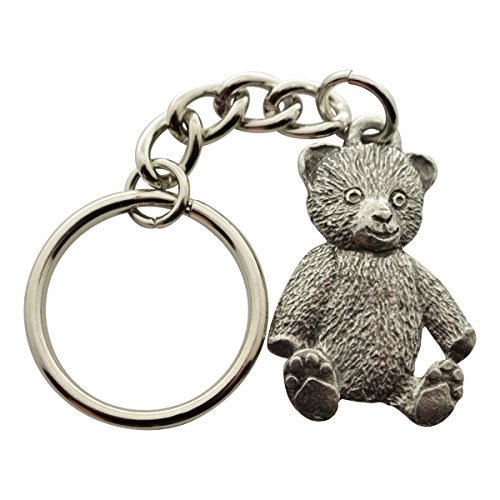 Sarah's Treats & Treasures Teddy Bear Keychain ~ Antiqued Pewter ~ Keychain ()
