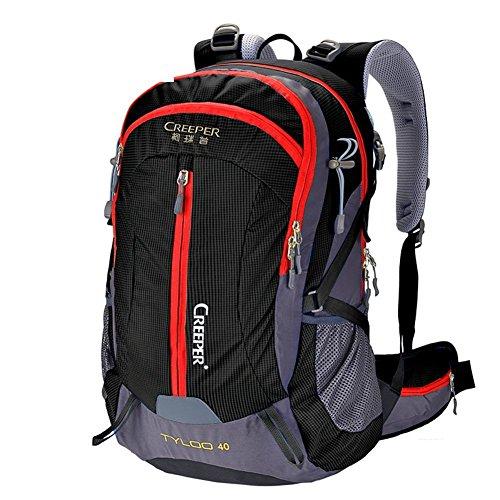 Sincere® Verpackung / Rucksäcke / Mobil / Ultrabergbeutel / wasserdichten Outdoor-Rucksack / Rucksack Wandern / Camping Paket schwarz 40L