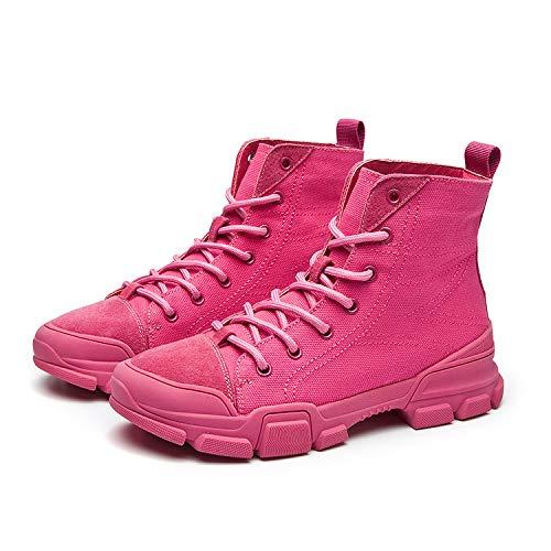 Alla Martin Stivaletti Scarpe Hop Alte Da Hip E Passeggio Selvaggia Moda Canvas Red Donne Autunnali Europa Invernali America Stivali Mid boots xwfE4w