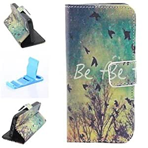 MOM Fall Scenery Pattern PU Leather Full Body Case for iPhone 4/4S