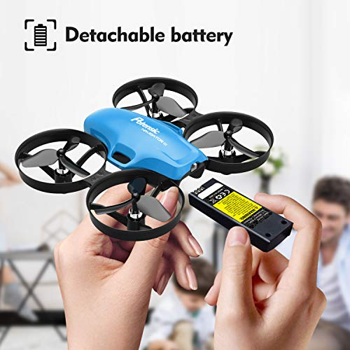 Potensic A30W Mini Drone for Kids with Camera,Micro FPV RC Nano Quadcopter, 720P HD Camera, Easy Operation Altitude Hold with Headless Mode, One Button Take Off/Landing, Emergency Stop-Blue
