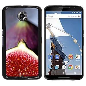 TopCaseStore / la caja del caucho duro de la cubierta de protección de la piel - Red Nature Tropical Fruit - Motorola NEXUS 6 / X / Moto X Pro