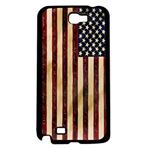 Red and Beige American Flag Hard Snap on Case (Note 2 II)