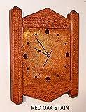 Wall Clock Craftsman Mission Stickley Inspired Quarter Sawn Oak Copper 26 colors