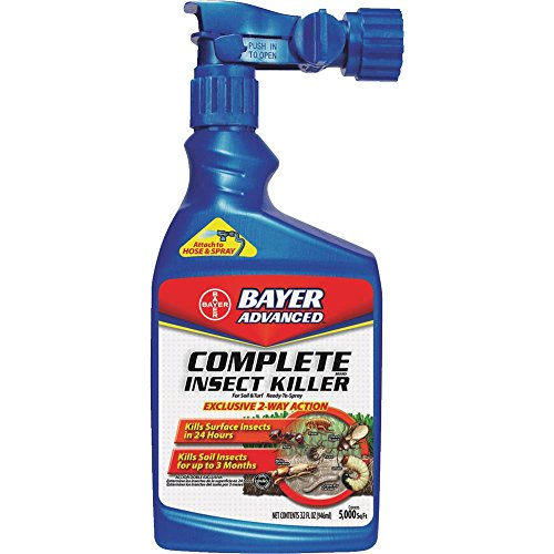Yard Flea Control - Bayer Advanced 700280B Complete Insect Killer for Soil and Turf Ready-To-Spray, 32-Ounce