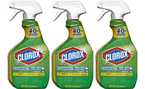 Bleach Cleaner - Clorox Clean-Up Bleach Cleaner Spray Value Pack of 3