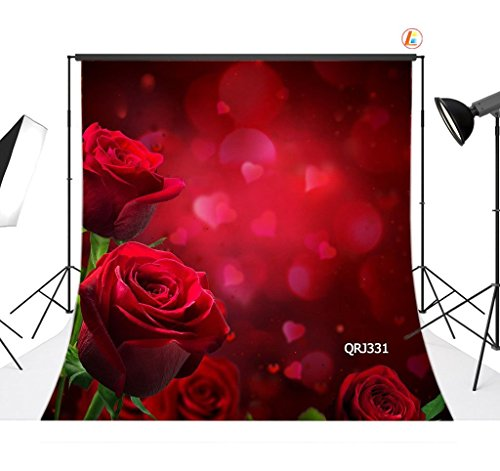 LB 8X8ft Valentine's day Vinyl Photography Backdrop Customized Photo Background Studio Prop QRJ331