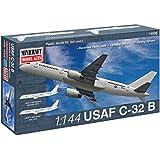 Minicraft C-32B USAF Airplane Model Kit (1/144 Scale)