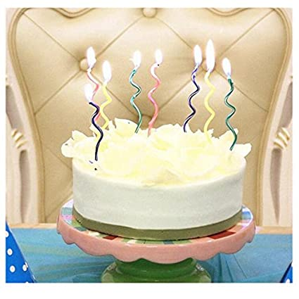 Buy Sellify Colorful 1Set Spiral Coil Festival Birthday Candle Romantic Cake Decorate Home Party Use Happy Candles For Kids Adults