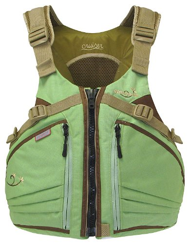 Stohlquist Women's Cruiser Life Jacket/Personal Floatation Device (Sage/Sand, Plus)