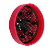 hair dryer red color - Hair dryer Diffuser Collapsible Hair Diffuser,Silicone (Style 2)