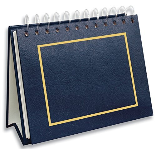 Pioneer Pioneer Pioneer Photo Albums 50 Pocket Spiral Bound Leatherette Mini Photo Album Easel for 4 by 6-Inch Prints, Navy Blau by Pioneer Photo Albums f35133