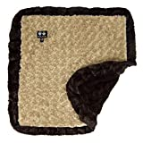 BESSIE AND BARNIE Camel Rose/Godiva Brown Luxury Ultra Plush Faux Fur Pet, Dog, Cat, Puppy Super Soft Reversible Blanket (Multiple Sizes) For Sale