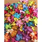 100 Mixed Mulberry Blossom Paper Flowers Scrapbooking Embellishment (mixed color)