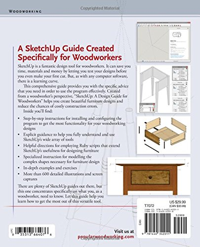 SketchUp - A Design Guide for Woodworkers: Complete Illustrated Reference by Popular Woodworking (Image #1)