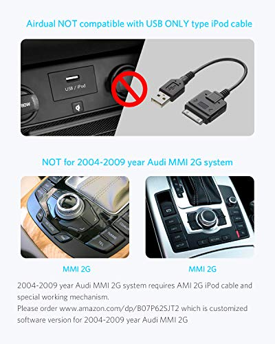 Airdual Bluetooth Adapter for Audi AMI MMI 30 pin iPod iPhone