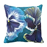 fine patio cover design ideas Yutoa-Design Pansy Study fine Art Floral Square Pillow Cover Sofa Home Decorative Throw Pillow Case Gift Ideas Household Zippered Cushion Covers 18X18Inch