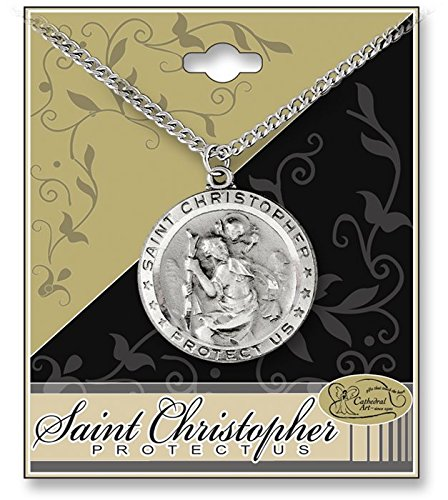 Cathedral Art STP201 Round St. Christopher 1-1/4-Inch Pen...