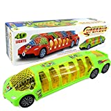 ILOFUN Toy Vehicles with 4D Flashing Lights ,Sounds ,Projection Car Toys for 3-12 year old toddlers boys girls (Super Bus)