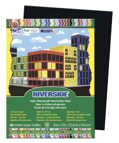 Riverside 103607 Construction Paper, 76 lb., 0.5