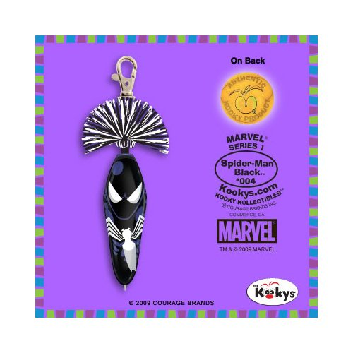Amazon.com : Marvel Kooky Klicker Series 1 Black SpiderMan : Key Tags And Chains : Office Products