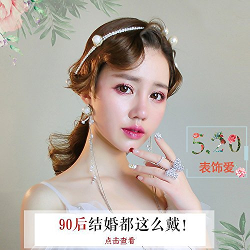 Quantity 1x Korean Hair Ornaments _Chun_Pui_ earrings _handmade_ earrings new adult _original_ jewelry _goddess_ head clamp clip queen -