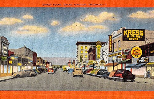Grand Junction Colorado Street Scene Store Fronts Antique Postcard - Grand Junction Stores