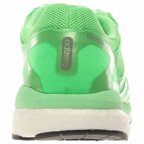 Adidas Adizero Tempo para hombre Boost 7 Ejecución de zapatos zapatilla de deporte, de medianoche g Flash Green/Zero Metallic/Black