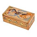 NOVICA Handcarved Hinduism Crocodile Wood Jewelry Box, Brown, Sita & Golden Deer Ii'