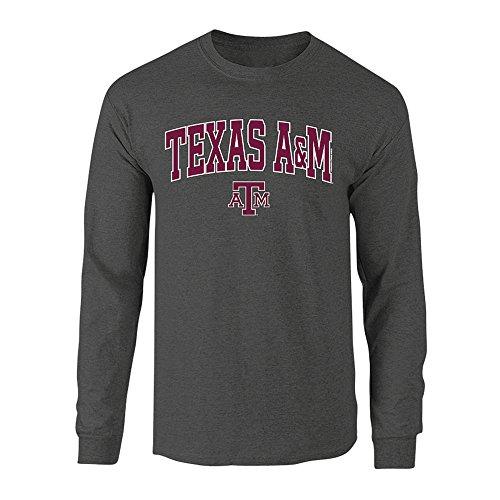 Elite Fan Shop Texas A&M Aggies Long Sleeve TShirt Varsity Charcoal - (Aggies Long Sleeve)
